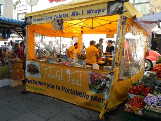 Portobello Road Market: Chiosco dei Falafel Wrap