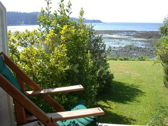 Sooke Harbour House : View from  main floor guest rooms, with private garden