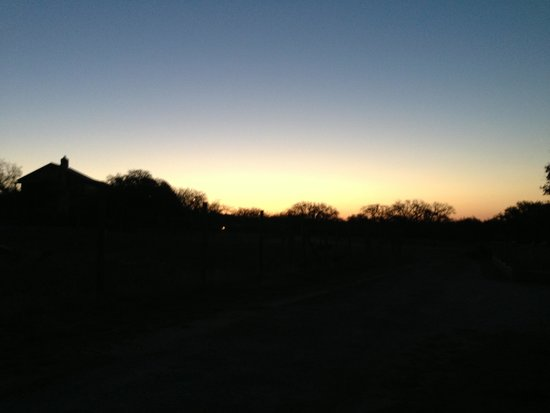 Roddy Tree Ranch: Hill Country Sunset.