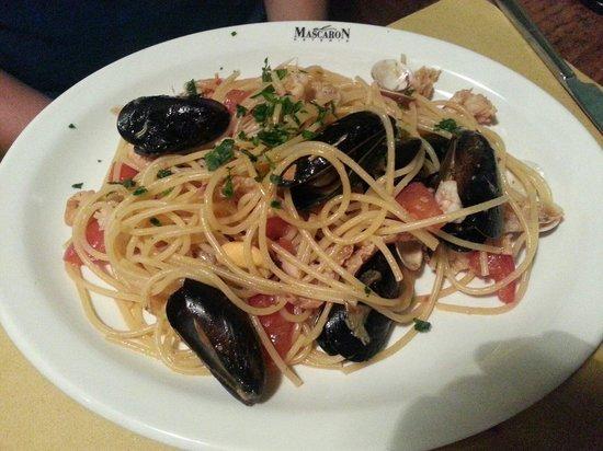 Osteria Al Mascaron: Spaghetti with seafood