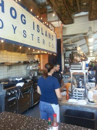 Hog Island Oyster Company: Hogs kitchen