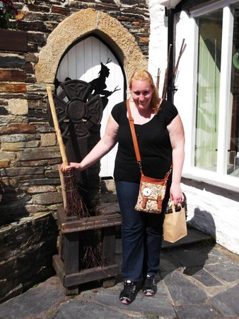 The Museum of Witchcraft and Magic: outside the witchcraft musuem