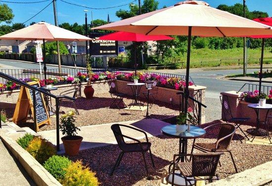 The Corkscrew Brasserie: Terrace Area