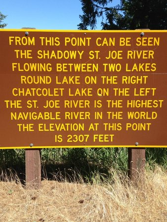 Heyburn State Park: The shadowy St. Joe River.