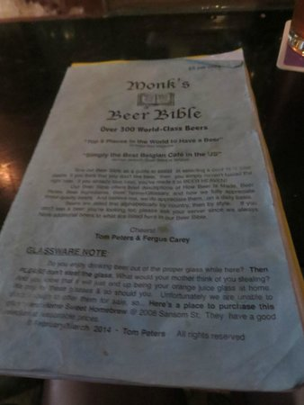 Monk's Cafe: Beer Bible