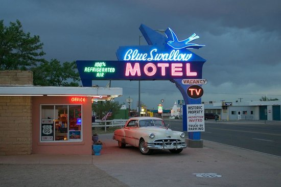 Blue Swallow Motel : At dusk after a storm