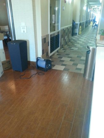La Quinta Inn & Suites South Padre Island: This is what was cooling lobby and area into hallway. .. mgmt said it was to dry floors.... that