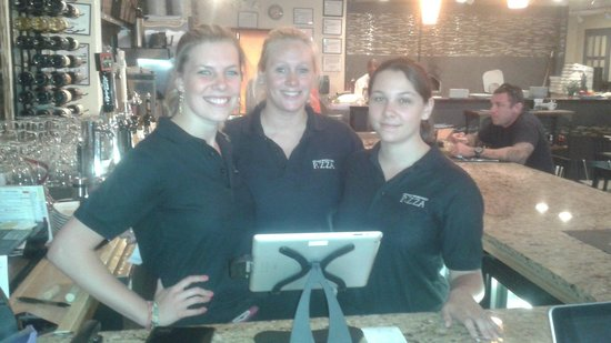 artisan wood fired P. ZZA: Christine, Meridith and Rachel your Bartenders