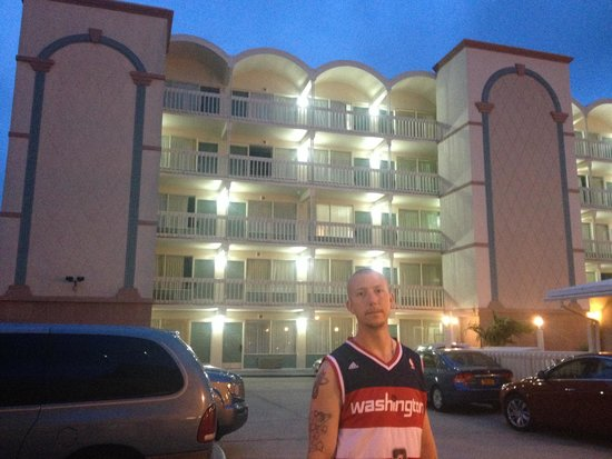 Royal Clipper Inn and Suites: Hubby in front of our beautiful hotel!!!