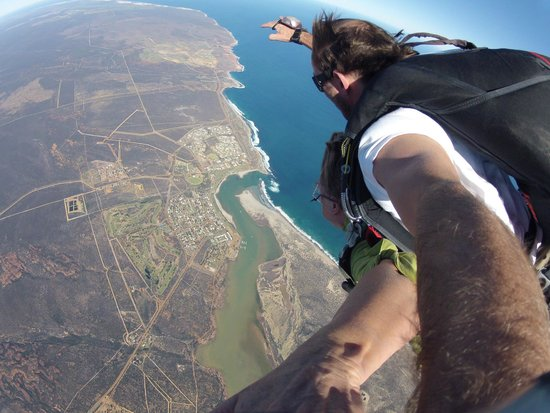Skydive Kalbarri: Over the mouth of the Murchison