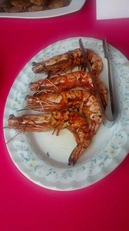 Harum Aroma: Freshly grilled tiger prawns