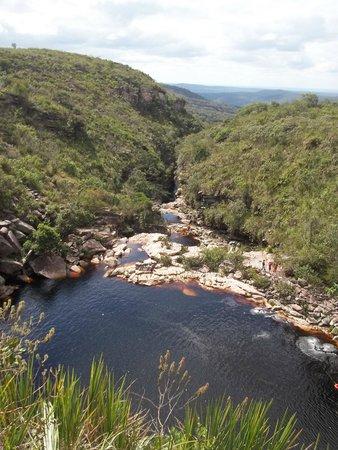 Poco do Diabo Waterfall: Paisagem vista de cima!