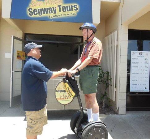 San Diego Segway Tours by Wheel Fun Rentals: Tim getting training for our Segway Tour in San Diego June 2014