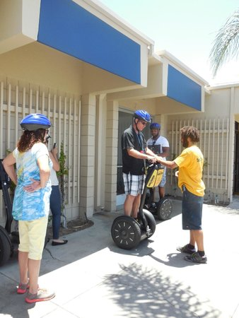 San Diego Segway Tours by Wheel Fun Rentals: Dan getting training on the Segway