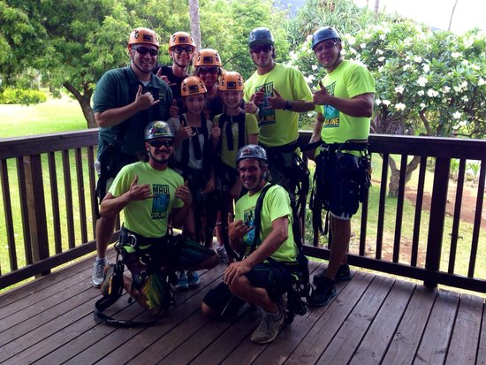 Maui Zipline Company: Thanks for an awesome first zipping experience Wes, Spencer, Ryan and matt