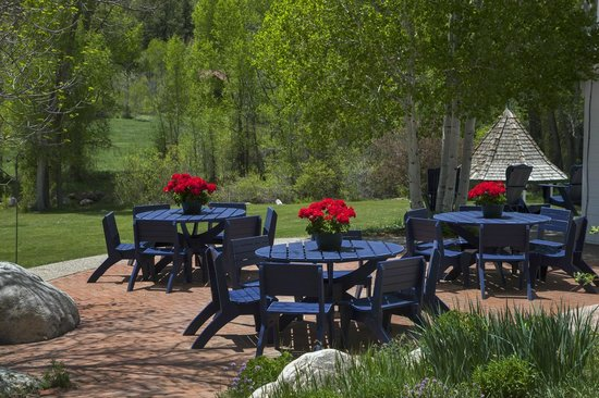 Antlers on the Creek Bed & Breakfast: Our patio ... a great spot for a cold craft beer.