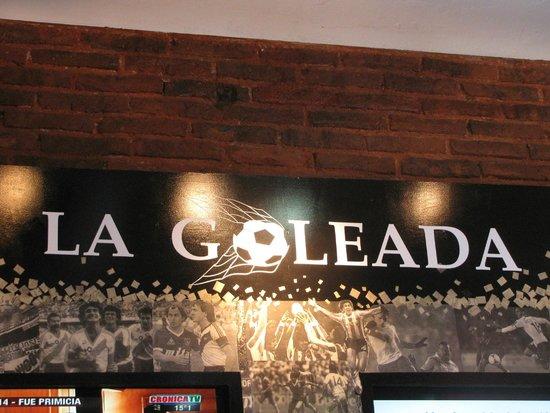 La Goleada: Interior do Restaurante