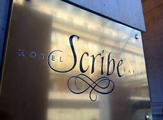 Hôtel Scribe Paris Opéra by Sofitel : Hotel sign