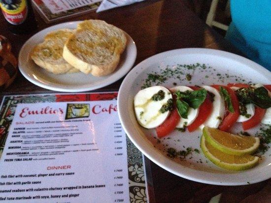 Emilio's Cafe: Menu & appetizer