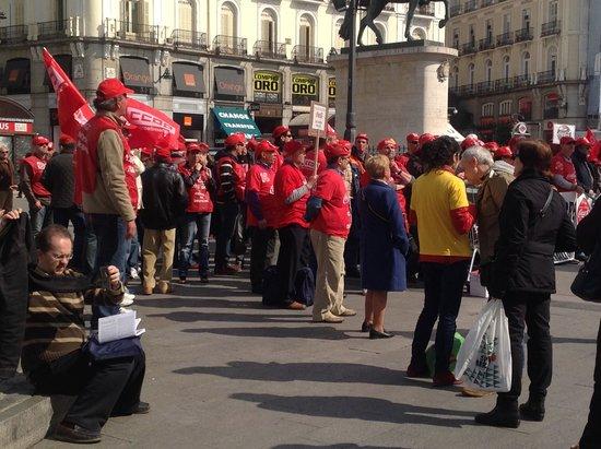 Puerta del Sol : manifestacao em Puerta do Sol
