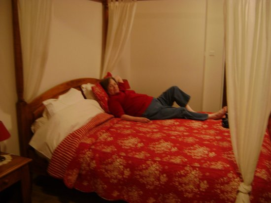 Le Moulin du Ponceau : Room with four poster bed.