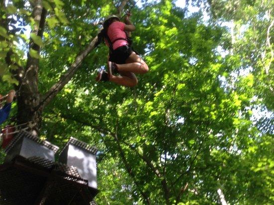Big Bear Ziplines: Ziplining away....