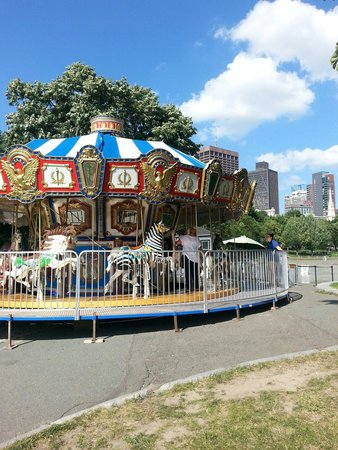 Merry go round at frog pond