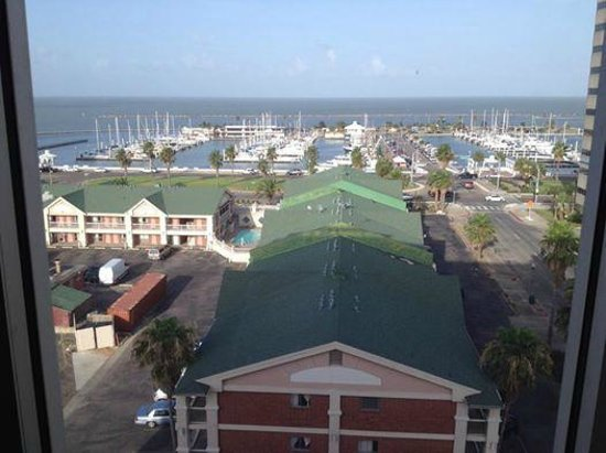 Hotel Corpus Christi Bayfront: The view of the bay from our 9th floor room