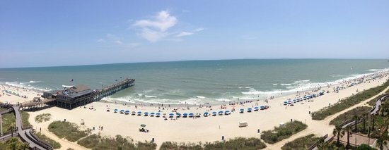 Holiday Inn at the Pavilion : View from a 10th floor oceanfront balcony