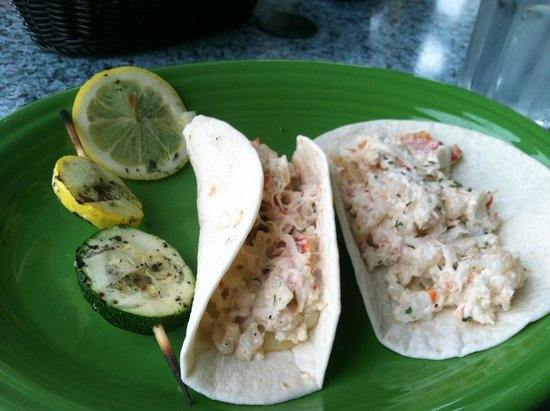 Bravos southwest Bistro : Lobster tacos with a View!
