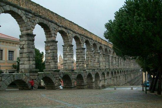 Aquädukt von Segovia: acueducto y vegetación
