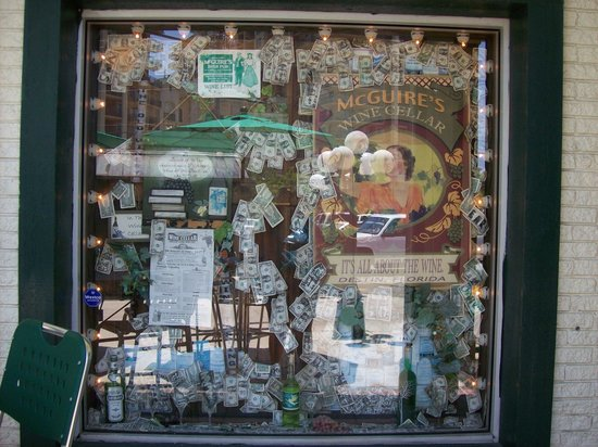 McGuire's Irish Pub: Outside window