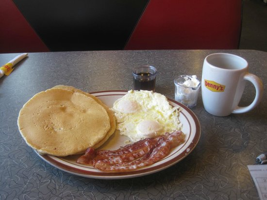 value menu breakfast, Denny's, Harbison Blvd, Columbia, SC June 2014