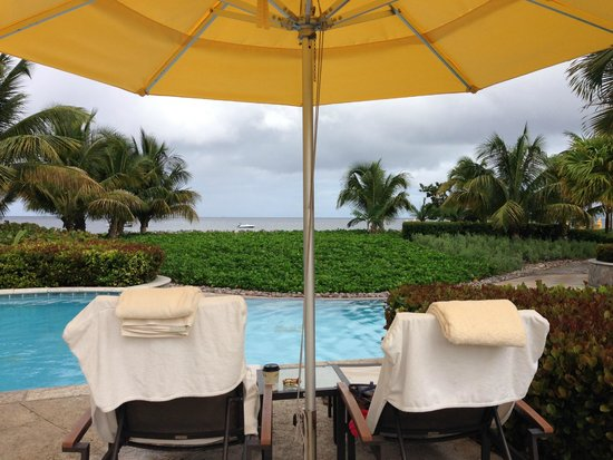 Four Seasons Resort Nevis, West Indies: View from the Garden Pool towards the beach