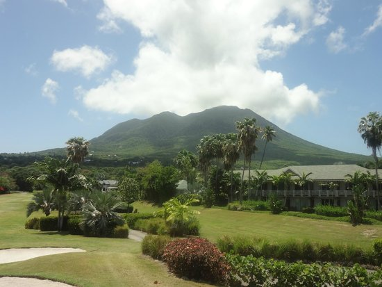 Four Seasons Resort Nevis, West Indies: Nevis Peak without clouds.