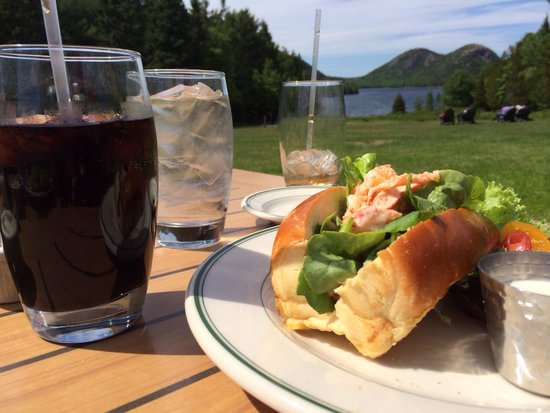 Jordan Pond House: Popovers and lobster rolls with this amazing view