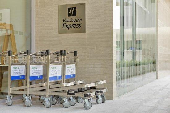 Self Service Luggage Trolleys at Holiday Inn Express Bangkok Sathorn