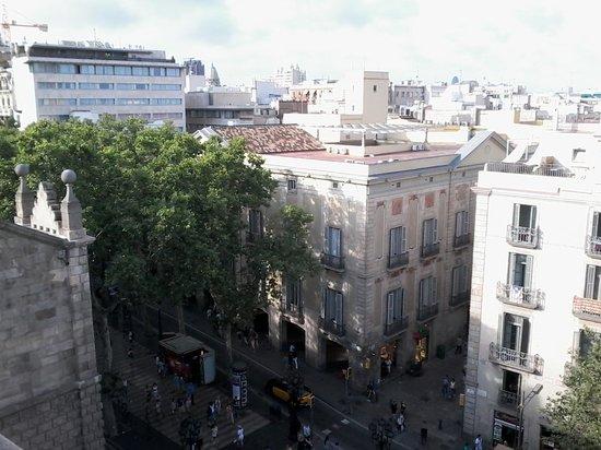 Hotel Bagues: vue de la terrasse