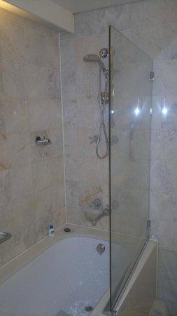 Sofitel Melbourne on Collins: shower in the bath tub