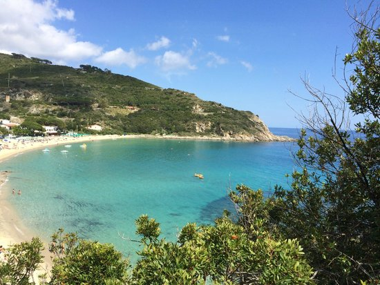 Cavoli, Italie : Beach view with clear waters