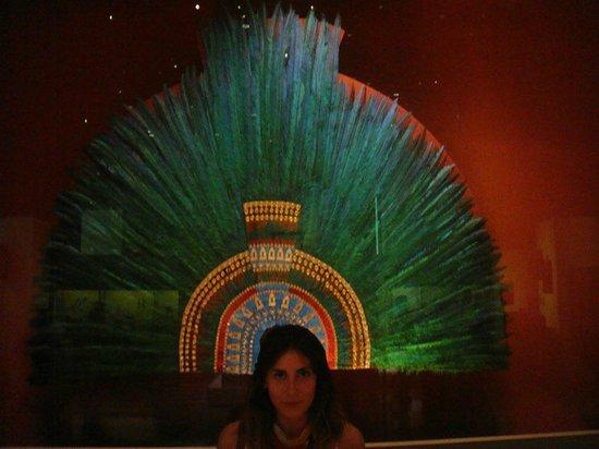 Musée national d'anthropologie de Mexico : Con la corona de Moctezuma