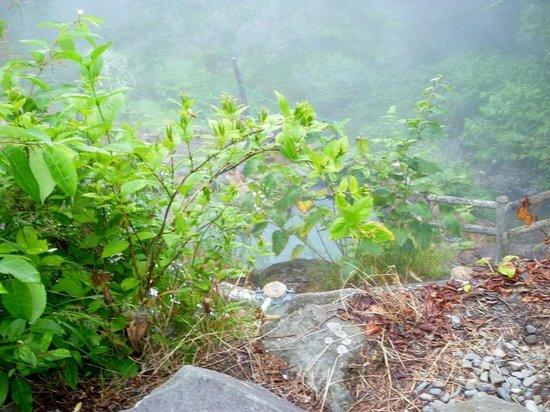Fukiage Onsen: 霧に包まれた露天風呂