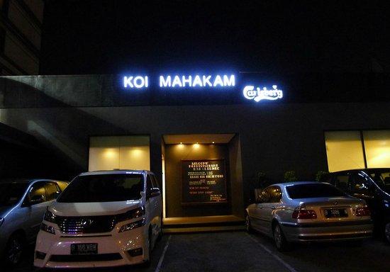 Koi Mahakam : the front of the restaurant