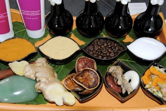 Shinta Mani Angkor: In the spa, the raw ingredients on display