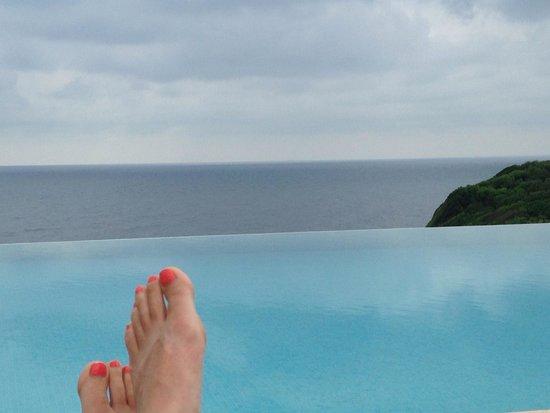 La Réserve : From the pool.