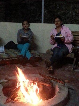 Himalayan Comforts: Fireplace, Gazebo