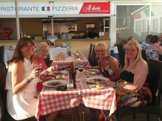 AluaSun Torrenova: Dining in the Italian Restaurant at the Hotel Marina Torrenova