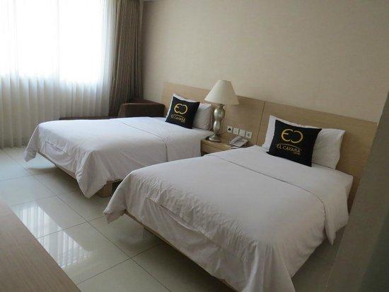 El Cavana Hotel : Tempat tidur twin bed