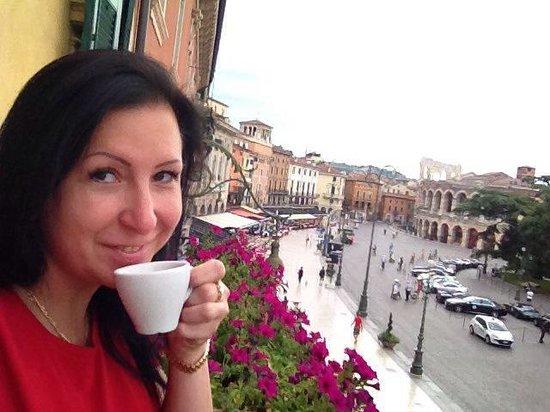 Locanda Ippopotamo: Утренний кофе в номере