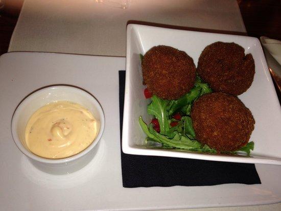 The Big Blue Hotel: Chicken & Chorizo rice ball starter
